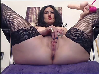 Lustful fucking and slapping bawdy cleft live show