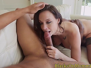 Dickriding mother i'd like to fuck facialized by dark jock