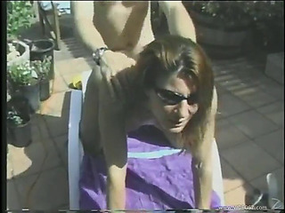 Seductive cougar and her hubby have a fun fucking hardcore outdoors