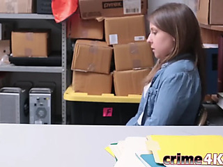 Juvenile thief brooke bliss sucks large penis previous to getting screwed