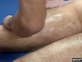 Large rod homo anal sex with massage