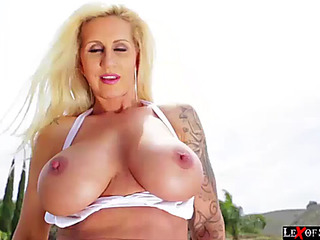 Breasty ryan acquires her fur pie and booty teamfucked