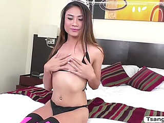 Transbabe nonny receives her taut ahole groupsex with kai baileys penis